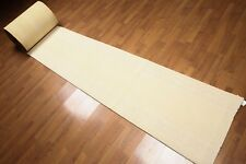 """2'4"""" x 74' Modern Palace Size Runner 100% New Zealand Wool Area Rug Ivory"""