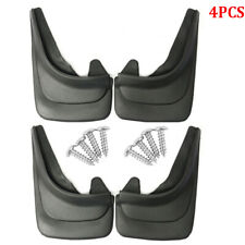 4PCS Black ABS Soft Plastic Truck Mud Flap Guards Fender For Truck RV Universal