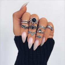 10Pcs/Set Elephant Finger Knuckle Ring Band Boho Retro Midi Rings Stacking Ring