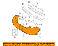 FORD OEM 08-11 Focus Rear Bumper-Cover 8S4Z17K835ABPTM