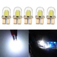 10pc LED T10 W5W COB SMD CANBUS Lampara de luz blanca brillante de silice N2Q 4O