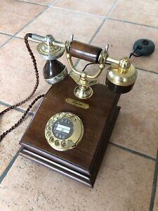 Lyon Telefon - Nostalgisch aus Holz - mit Wählscheibe