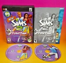 Sims 2: FreeTime (PC, 2008) PC Game Complete with Key Code on Manual Expansion
