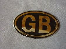Nouvelle Jaguar XK TRIUMPH TR LOTUS ELAN Ovale GB badge chrome sur noir