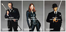 THE AVENGERS (1998) ORIGINAL SET OF 3 PORTRAIT ADVANCE MOVIE POSTERS  -  ROLLED