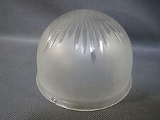 Ancien abat jour de lampe à poser en verre dépoli vintage french old lampshade