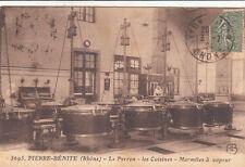 PIERRE-BENITE 3695 le perron les cuisines marmites à vapeur timbrée 1924