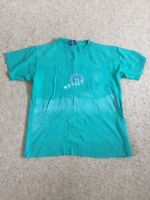 Ocean Pacific OP Vintage 80s Mens XL T Shirt Teal Pink Surfing Skate USA Made