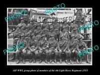 OLD 8x6 HISTORIC PHOTO AUSTRALIAN ANZAC SOLDIERS 4th LIGHT HORSE REGIMENT 1915