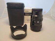 Sigma 35mm ART F1.4 DG HSM L Mount