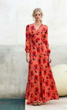 Mister Zimi Maxi Dress Size 8 Red Souk Giselle Fit and Flare Orange Floral