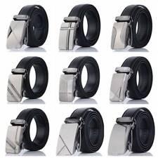 Fashion Men's Automatic Buckle Belt Leather Waist Ratchet Classic bara
