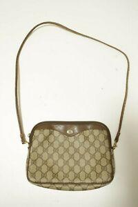 Authentic Vintage Gucci Canvas PVC Shoulder bag Crossbody Pouch #8979