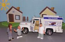 Kinsmart 1956 Ford F-100 Ice Cream Truck 1:38 scale w/ Homies figures