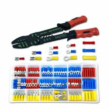 175pc Solderless Crimp on Crimpable Wire Terminal Connector Ends W/ Stripper