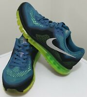 NIKE Men's AIR MAX 2014 Shoes Running Sneakers Blue/Green US10 UK9 Authentic