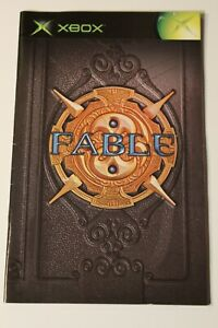 French Francais Fables Xbox INSTRUCTION MANUAL ONLY ! excellent condition
