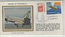 USA 1981 SPACE RELATED SILK COVER RETURN OF COLUMBIA II