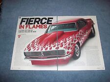 "1968 Chevy Camaro RS Custom Pro Street Article ""Fierce in Flames"""