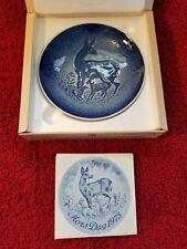 "Bing Grondahl 6"" 1975 Mors Dag Mothers Day Deer Collector Plate New Box & Coa"