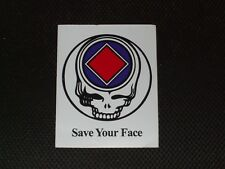 Save Your Face AA NA Grateful Dead Type Sober Sticker