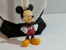 Black, Red, & Yellow Disney's Mickey Mouse Christmas Ornament with Gold Ribbon