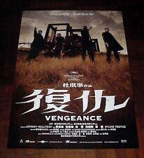 "Johnnie To ""Vengeance"" Anthony Wong RARE HK ORIGINAL MOVIE 2009 NEW POSTER"
