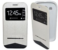 HOUSSE COQUE ETUI Intelligente View BLANC pour SAMSUNG GALAXY ACE 4
