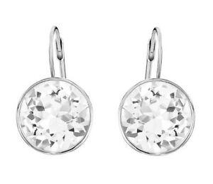 Swarovski 883551 Earrings Bella V Rhodium Plated Length 1.5x1cm RRP $119