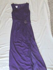 $249 Patra sz 8 eight womens dress purple beaded full length dressy prom pageant