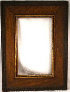Antique Wooden Picture Frame with Beaded Detail