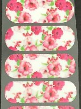 Jamberry Half Sheet - Pink and White Foral on White NAS