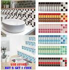 10PCS Kitchen Tile Sticker Bathroom Mosaic Sticker Self-adhesive Wall Home Decor
