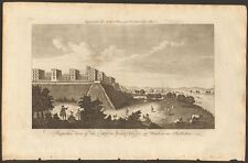 1779 ca ANTIQUE PRINT- BERKSHIRE - VIEW OF CASTLE AND ROYAL PALACE AT WINDSOR