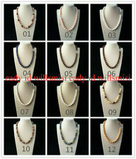 Handmade Natural 10mm Multicolor South Sea Shell Pearl Round Beads Necklace 18''