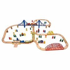 NEW Carousel Wooden Train Railway Set Track 100 Pieces Brio Thomas kids children