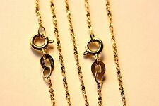 WHOLESALE 5 PCS GENUINE GOLD OVER STERLING TWISTED SERPENTINE CHAIN Necklace LOT