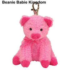 TY BEANIE BABIE PINKYS * SILKY * THE PINK PIG KEY CLIP