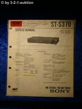 Sony Service Manual ST S370 Tuner  (#0570)