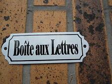 Plaque émaillée Neuve  BOITE AUX LETTRES émail véritable 800°C fabr. en France