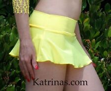 neon Yellow Flare booty skirt/made in usa/Pole dancer/stripper/model/s-m