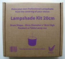Lampshade Making Kit 20cm drum - Make your own! Complete Kit Easy to Use