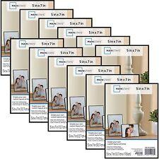 Mainstays 5x7 Format Picture FRAME BUNDLE Home Decor DISPLAY Set Of 12 BLACK NEW