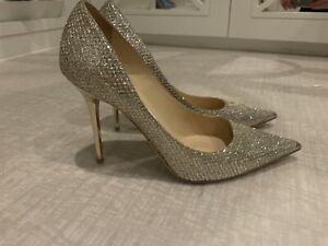 Jimmy Choo Glitter Champagne Heels, Size 6 UK 39 EU