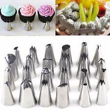 24 un. Glaseado tuberías Pasteles y Cupcakes bolsa de plástico & Boquillas Set Sugarcraft Taza