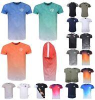 New Mens Branded Crosshatch Camo Contrast Short Sleeve T Shirt Top Size S-XXL