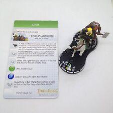 Heroclix LotR: The Two Towers set Legolas and Gimli #031a Super Rare fig w/card!