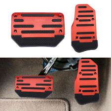 2pcs Universal Non-Slip Automatic Gas Brake Foot Pedal Pad Cover Accessories Kit