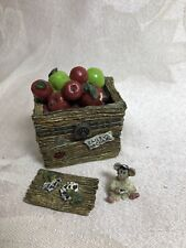 Boyds Bear Treasure Box Candice's Apple Crate With Doc McNibble