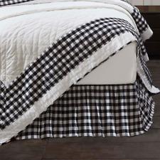 Annie Buffalo Black Check Queen Bed Skirt Dust Ruffle Farmhouse Vhc Brands